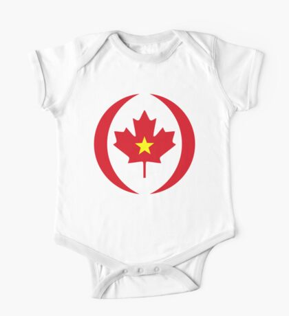 Vietnamese Canadian Multinational Patriot Flag Series Kids Clothes