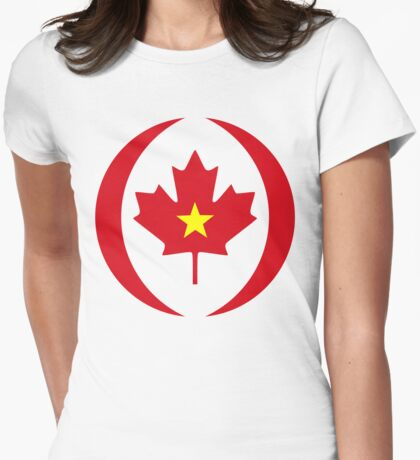 Vietnamese Canadian Multinational Patriot Flag Series T-Shirt