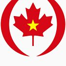 Vietnamese Canadian Multinational Patriot Flag Series by Carbon-Fibre Media