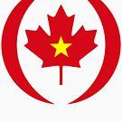 Vietnamese Canadian Multinational Patriot Flag Series by Carbon-Fibre Media