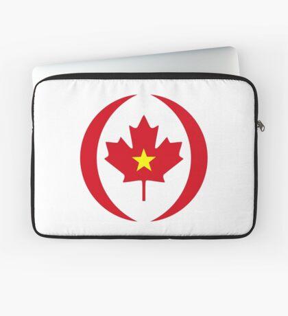 Vietnamese Canadian Multinational Patriot Flag Series Laptop Sleeve