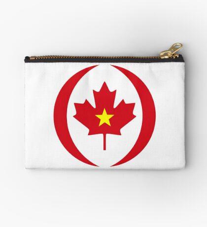 Vietnamese Canadian Multinational Patriot Flag Series Zipper Pouch
