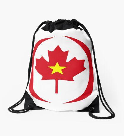 Vietnamese Canadian Multinational Patriot Flag Series Drawstring Bag