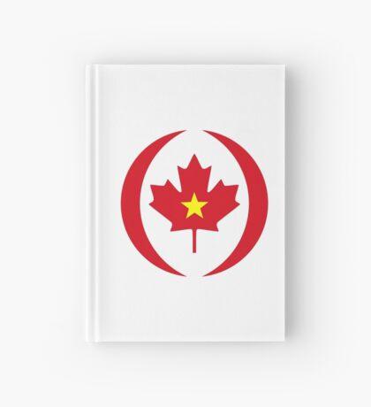Vietnamese Canadian Multinational Patriot Flag Series Hardcover Journal