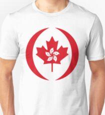 Hong Konger Canadian Multinational Patriot Flag Series Slim Fit T-Shirt