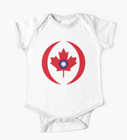 Taiwanese Canadian Multinational Patriot Flag Series Kids Clothes