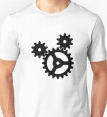 GearsBlack Unisex T-Shirt