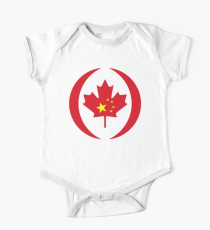 Chinese Canadian Multinational Patriot Flag Series Kids Clothes