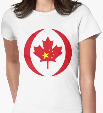 Chinese Canadian Multinational Patriot Flag Series T-Shirt