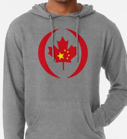 Chinese Canadian Multinational Patriot Flag Series Lightweight Hoodie