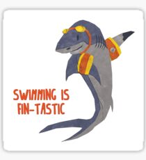 Swimming is Fin-tastic! Sticker