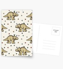 Triceratops & Triangles Postcards