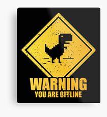 Warnung offline Metallbild