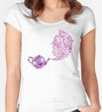 Tea is Good Women's Fitted Scoop T-Shirt