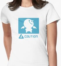 Caution Womens Fitted T-Shirt