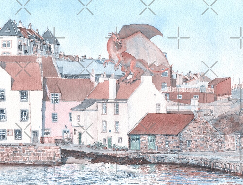 Dragon Attack on Pittenweem by MotiBlack