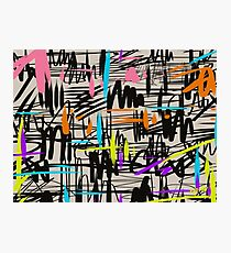 Playful scribbles Photographic Print