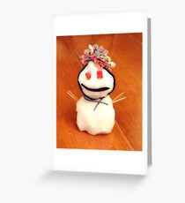 Pooky the snowman  Greeting Card