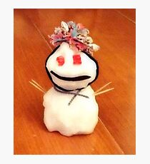 Pooky the snowman  Photographic Print
