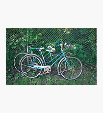 Vintage Bikes Carrying Summer Flowers Photographic Print
