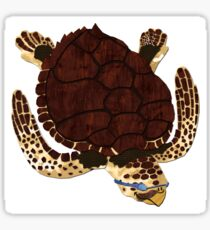 Swimming Turtle Isolated Sticker