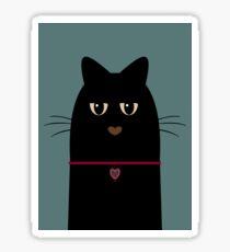 BLACK CAT PORTRAIT #2 Sticker
