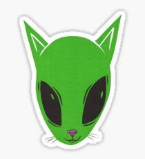 Alien Kitty Sticker