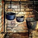 Three Pots in Colonial Kitchen by Susan Savad