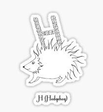 H is for Hedgehog Sticker