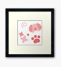 Potato Puppy, Playful Pattern Framed Print