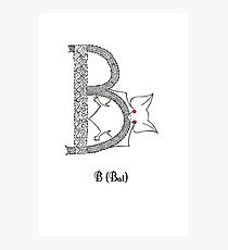 B is for Bat Photographic Print