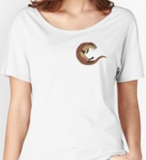 Swimming Otter Isolated Women's Relaxed Fit T-Shirt