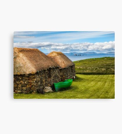 Old Scottish Crofts On The Isle of Skye Canvas Print