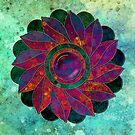 Textured mandala 02 by Genevieve Crabe