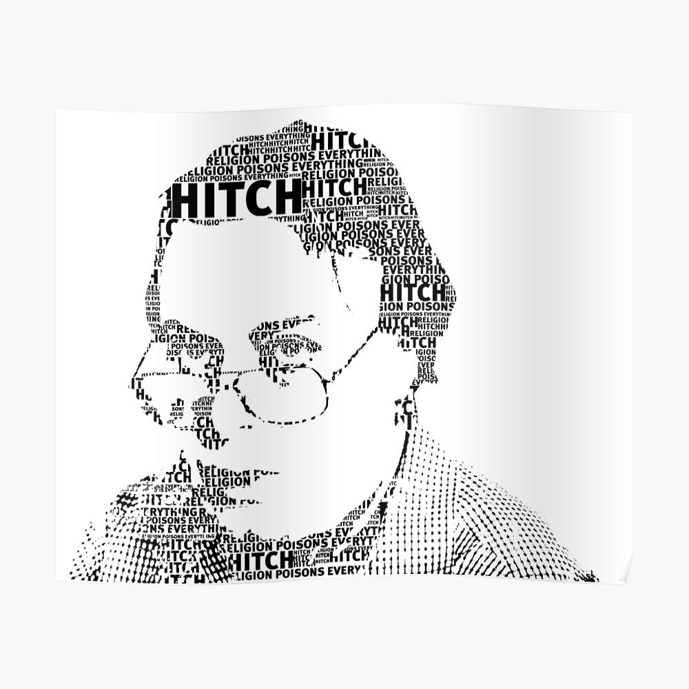 Christopher Hitchens Textkunst Poster
