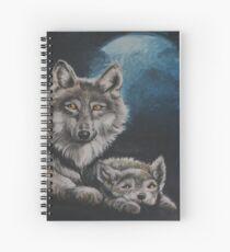 Wolf - Spirit Animal Art Spiral Notebook