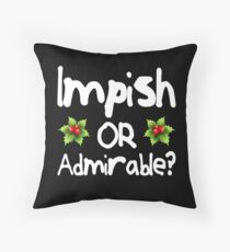 Impish or Admirable? - The Office inspired Belsnickel Design Throw Pillow
