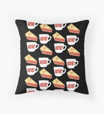 Twin Peaks RR Diner Agent Cooper Throw Pillow