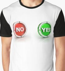 yes or no choice or answer 3D icons Graphic T-Shirt