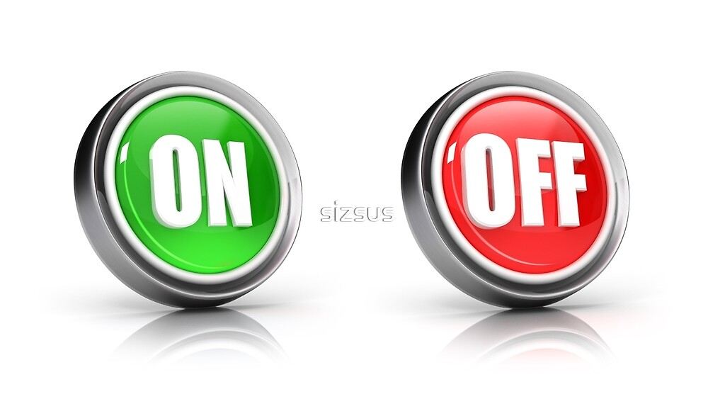 on or off choice or switch 3D icons by sizsus