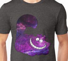 Purple Galaxy Cheshire Cat Unisex T-Shirt