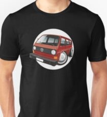 VW T3 bus caricature red T-Shirt