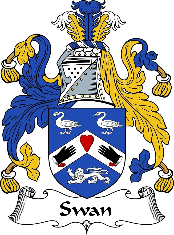 """""""Swan Coat of Arms / Swan Family Crest"""" by ScotlandForever ... Swan Arms"""