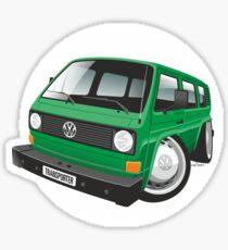 VW T3 bus caricature green Sticker