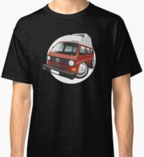 VW T3 camper caricature red Classic T-Shirt