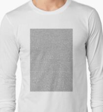 Shrek Script Long Sleeve T-Shirt