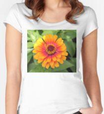 Happy Flower in the Garden Women's Fitted Scoop T-Shirt