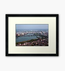 Boston Aerial View Framed Print