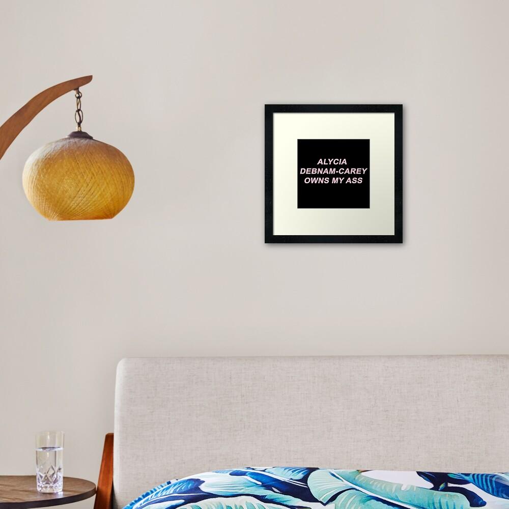 Alycia Debnam Carey Ass alycia debnam-carey owns my ass | framed art print