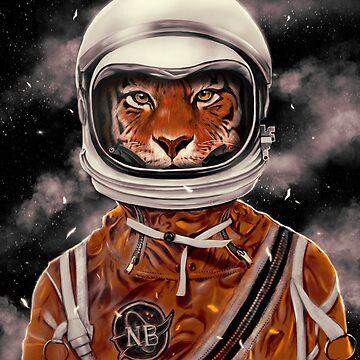 Tiger Astronaut by nicebleed